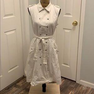 Calvin Klein sz 12 white military style snap dress